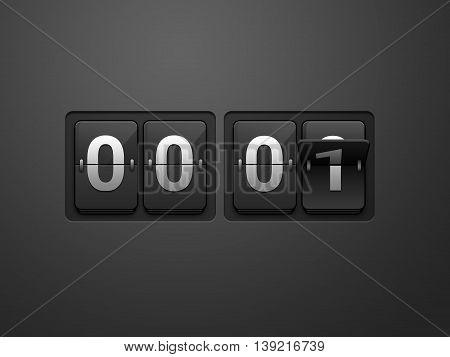 Time Flip clock. Wall flap counter clock