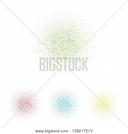Vector text frame. Abstract background. Halftone effect