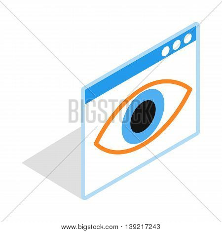 File hide icon in isometric 3d style on a white background