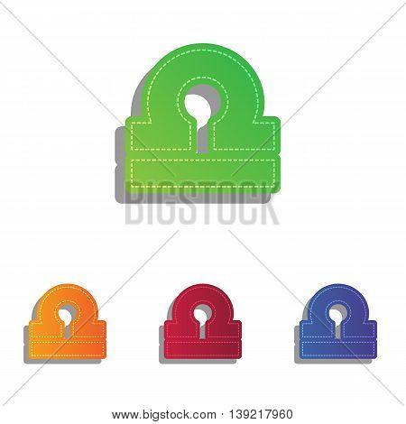 Libra sign illustration. Colorfull applique icons set.