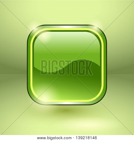 Glossy square empty button. Vector EPS10 illustration