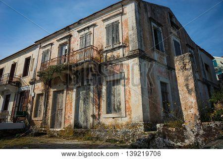 City Landscape  In Fiscardo, Kefalonia, Greece