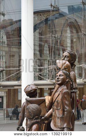 LIVERPOOL ST LONDON UK 16 September 2014: memorial in hope square