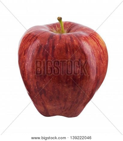 A Red apple isolated in white background
