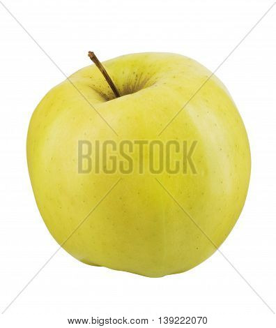 A Yellow apple isolated in white background