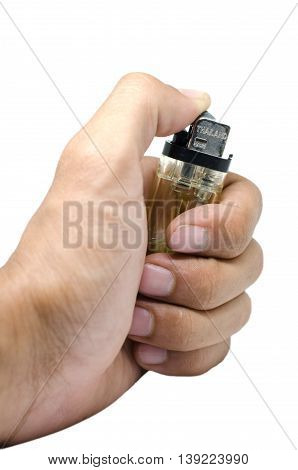 A lighter is a portable device used to create a flame