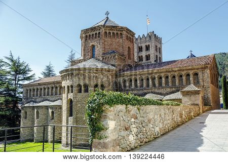 Santa Maria de Ripoll monastery Catalonia Spain. Founded in 879 is considered the cradle of the catalan nation.