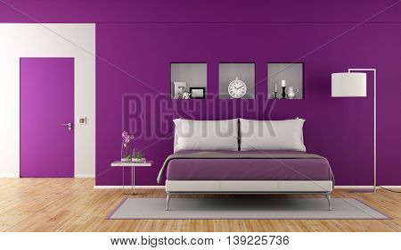 Modern Purple Bedroom
