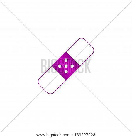 Plaster Icon. Flat Design Style.