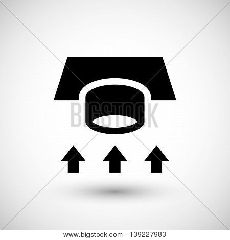 Ventilation duct icon isolated on grey. Vector illustration