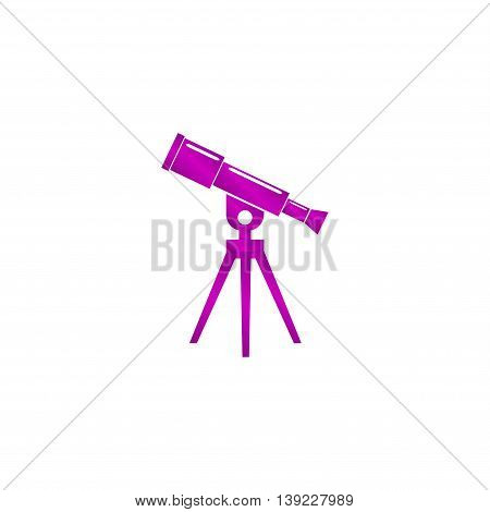Telescope Icon. Flat Design Style.