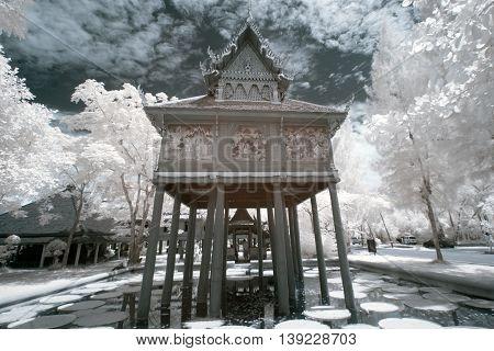 public location in Thailand, taken in near infrared