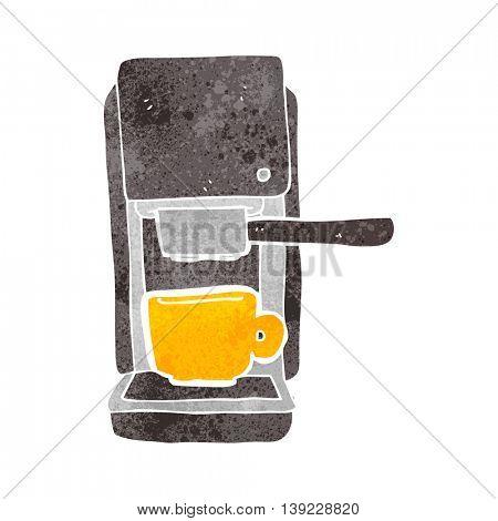 freehand retro cartoon espresso maker