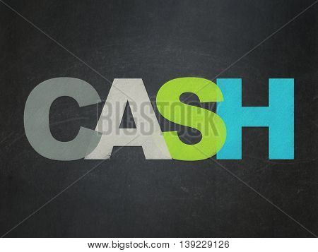 Currency concept: Painted multicolor text Cash on School board background, School Board
