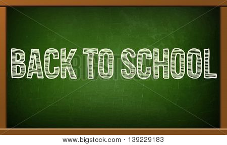 back to school poster with text on chalkboard  illustration