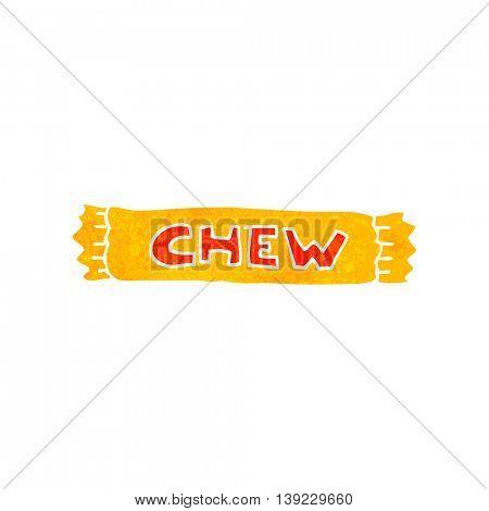 freehand retro cartoon chew