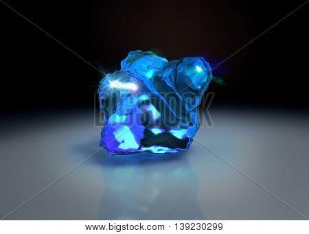 Crystal Stone On Table
