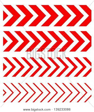 Arrow linear fast moving signs sideways set . Vector eps8 seamless pattern
