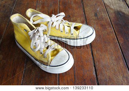 Many people wear shoes with a unique style.