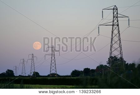 Moon And Pylons