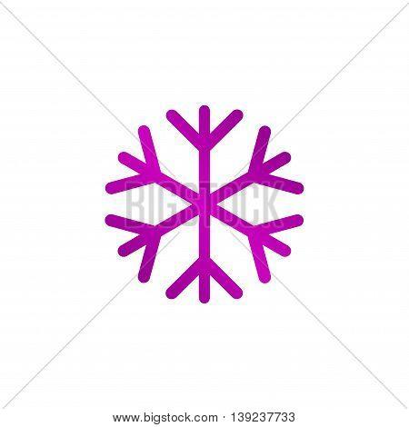 Snowflake Flat Icon.
