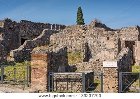 Pompeii once a Roman city suffered after the catastrophic eruption of Mt. Vesuvius in 79 C.E.