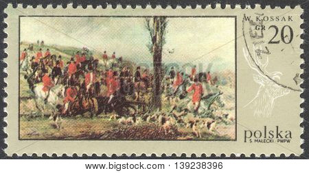 MOSCOW RUSSIA - CIRCA JANUARY 2016: a post stamp printed in POLAND shows the painting