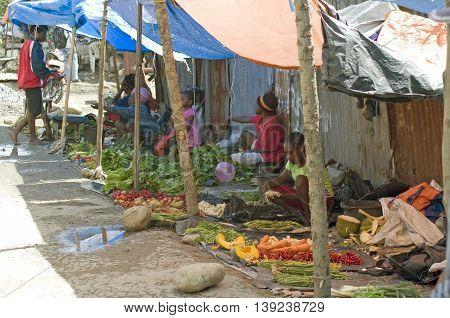 Market In Wamena, Papua Province. Indonesia