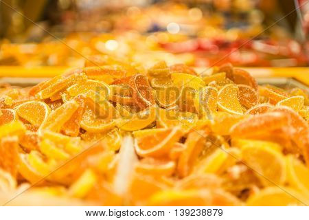 A lot of orange sweet and tasty marmalade