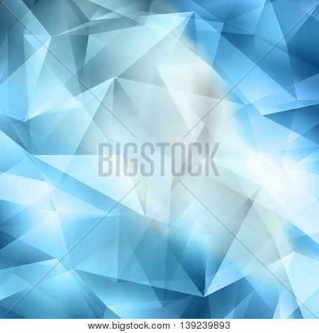 Crystal Abstract Geometric Cut Blue And White Background