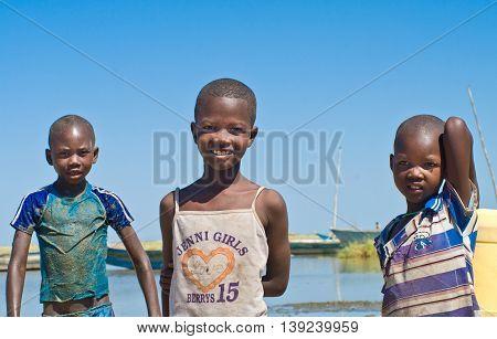 Unidentified Children Near Lake Turkana, Kenya