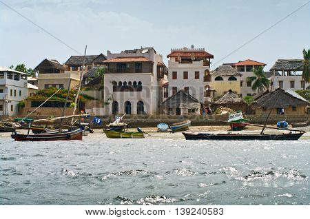 View Of Lamu Town On Lamu Island In Kenya.