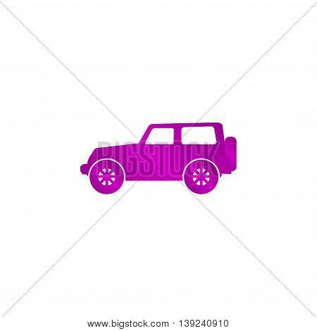 Suv Icon. Vector Concept Illustration For Design
