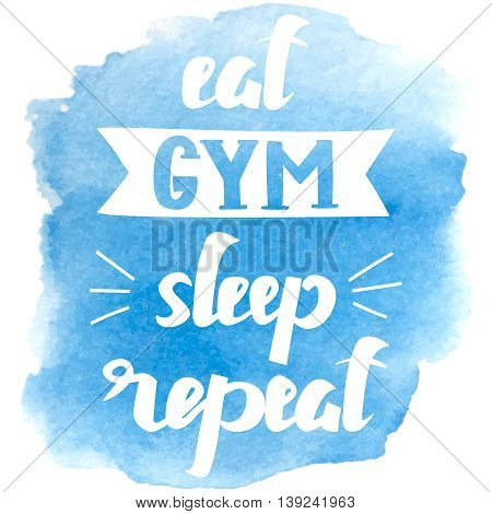 Sport theme. Motivational and inspirational. Letteryng for logo, t-shirt design, banner, card, stamp, poster, gym, bodybuilding or fitness club. Simple message Handdrawn Vector illustration
