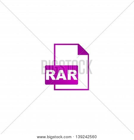 Rar Icon. Vector Concept Illustration For Design