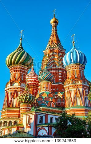 St. Basil's Cathedral on Red Square. Early morning.