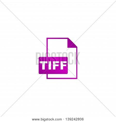 Tiff Icon. Vector Concept Illustration For Design