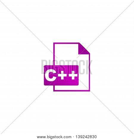 C Icon. Vector Concept Illustration For Design