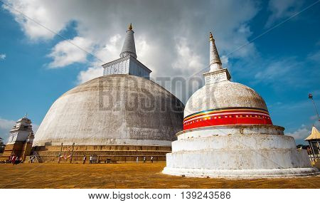 The stupa Anuradhapura.The biggest brick stupa in Sri Lanka