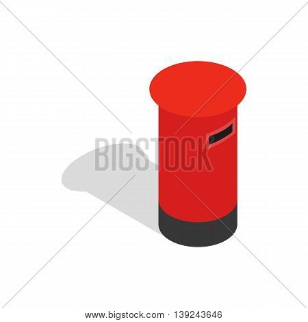 English inbox icon in isometric 3d style isolated on white background. Service symbol