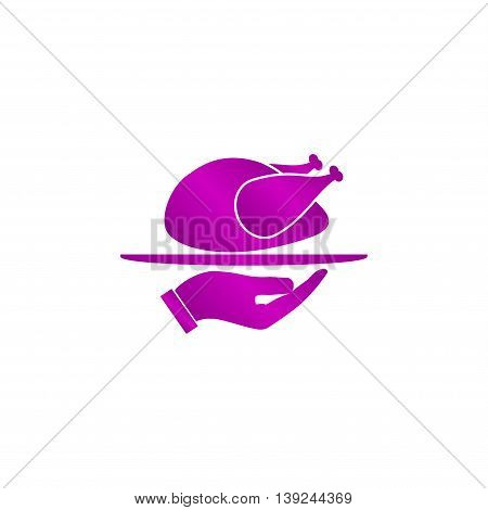 Chicken. Vector Icon
