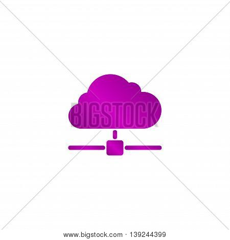 The Universal Vector Icon On The Cloud Computing Theme