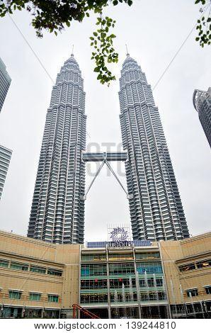 Kuala Lumpur/Malaysia - September 2012: Petronas twin towers in Kuala Lumpur Malaysia