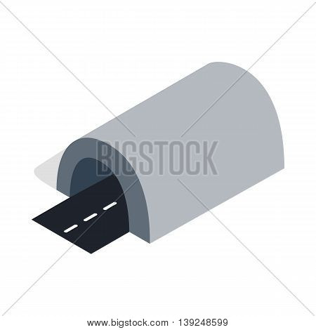 Tunnel icon in isometric 3d style isolated on white background