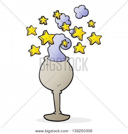 freehand drawn cartoon magic goblet