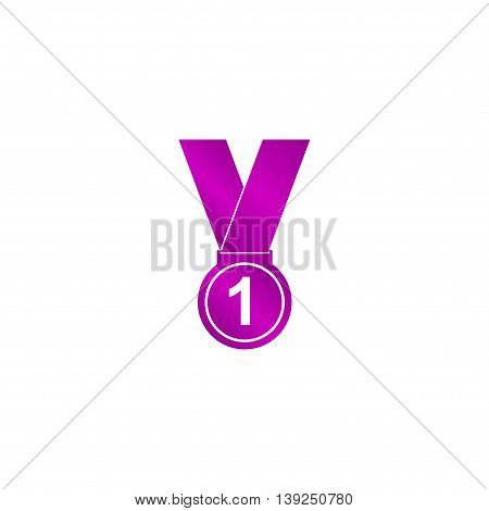 Medal Icon Modern Design Flat Style