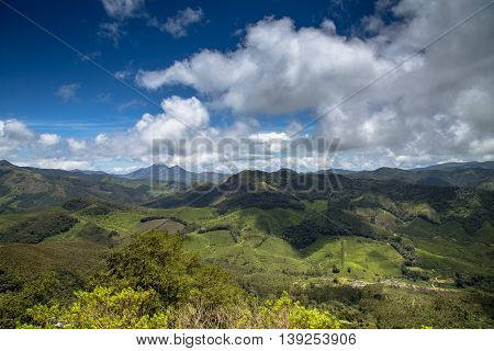 View of The Western Ghats from Rajamalai Hills Munnar Kerala India