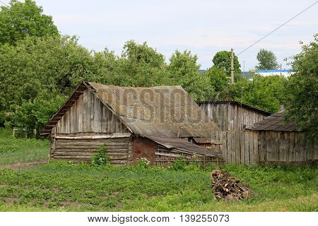 in the villages of Belarus, a lot of old residential houses and abandoned