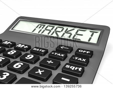 Calculator With Market On Display.