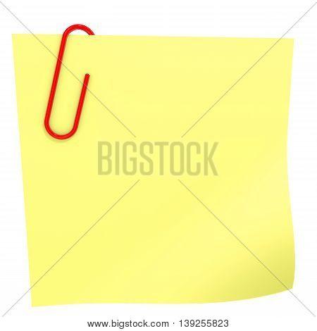 Yellow Stick Note.